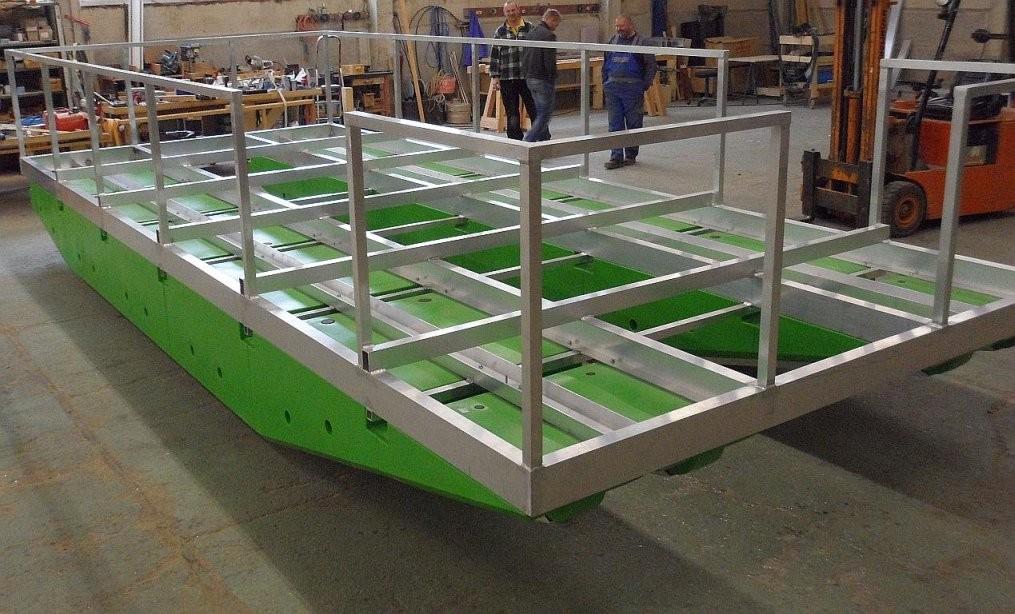 Selbstbau  Komponenten  Tom Sawyer Boats  Flösse Und Hausboote Bauen von Ponton Hausboot Selber Bauen Bild