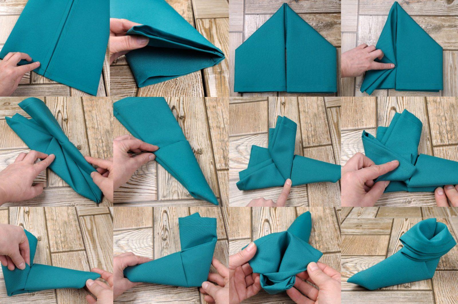 Servietten Einfach Falten Mit Schrittfürschrittanleitung von Servietten Falten Fächer Anleitung Bild