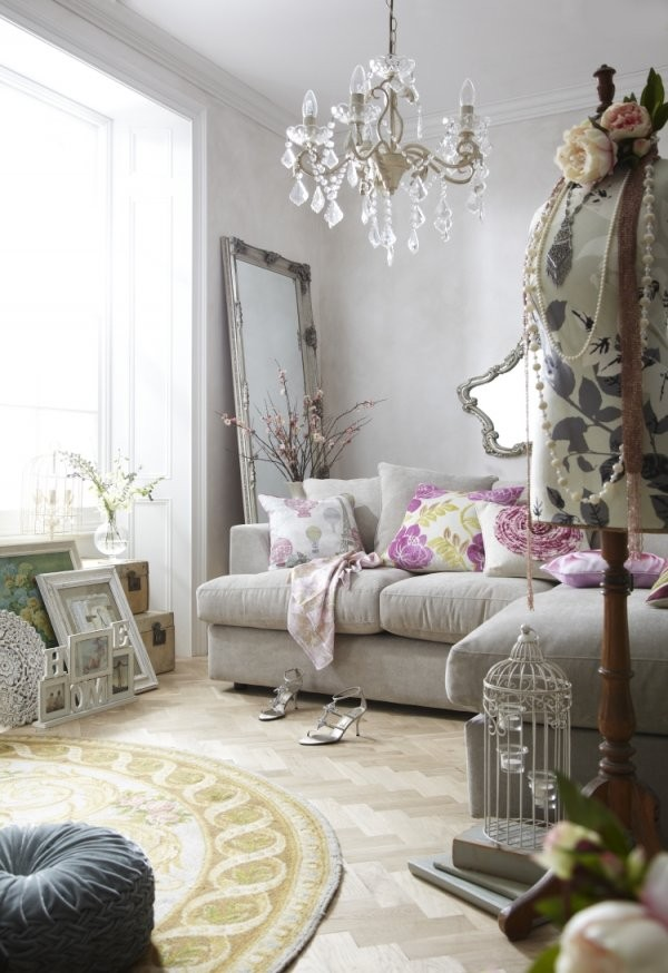 Shabby Chic Im Wohnzimmer  55 Möbel Und Deko Ideen von Shabby Chic Deko Ideen Bild