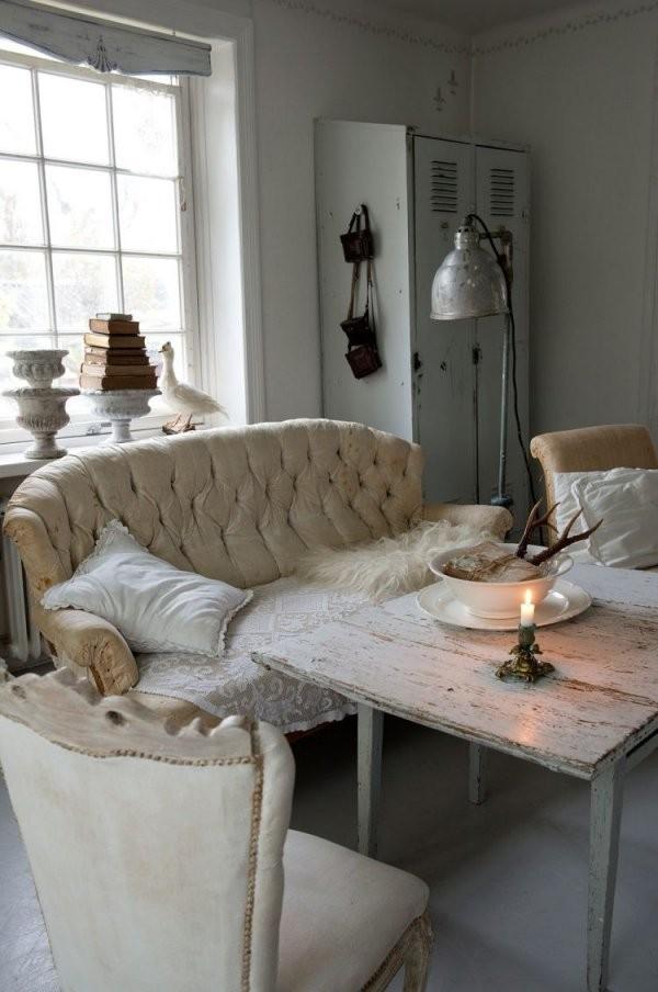 Shabby Chic Im Wohnzimmer – 55 Vintage Möbel Und Deko Ideen von Shabby Chic Deko Ideen Bild