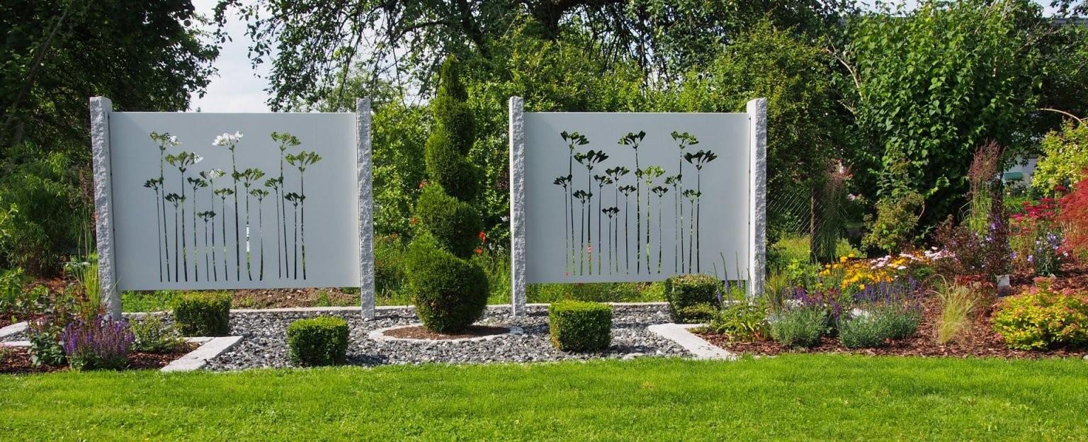 Sichtschutz Aus Metall Ganz Individuell  Tiko Metalldesign von Sichtschutz Garten Metall Rost Photo