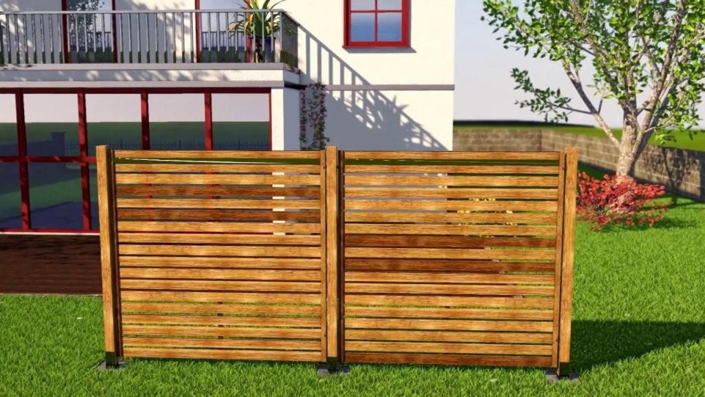 Sichtschutz Bauen Mit Holzelementenso Geht Das  Youtube von Sichtschutz Lärche Selber Bauen Photo