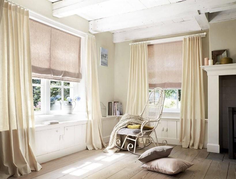 Sichtschutz Im Wohnzimmer  Moderne Plissees Gardinen Und Rollos von Plissee Und Gardinen Kombinieren Bild