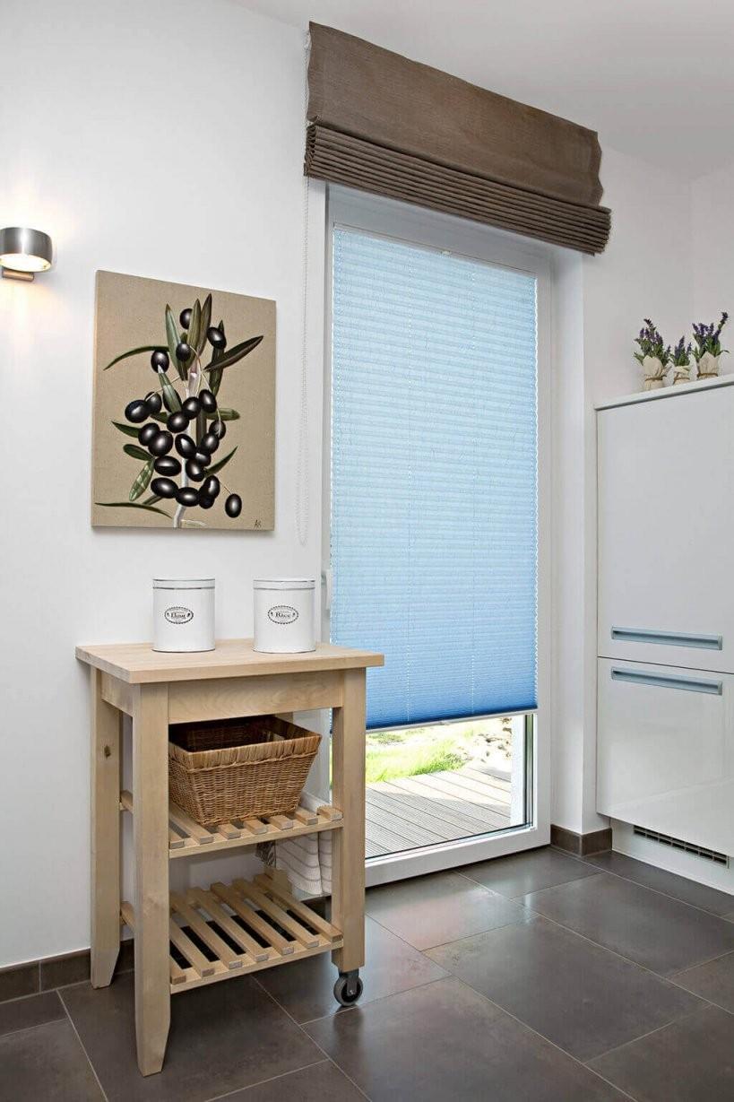 Sichtschutz In Der Küche  Vorhänge Plissees Und Rollos von Plissee Und Gardinen Kombinieren Photo