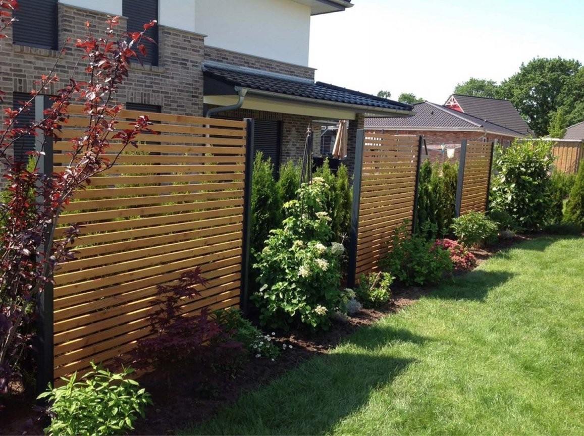 Sichtschutz Modern Design Performal Best Garten Ideen  Midcentury von Moderner Sichtschutz Im Garten Bild