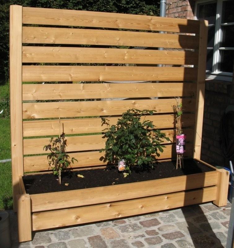 Sichtschutz Pflanzkasten Terrasse Top Für Blumenkasten Mit von Sichtschutz Mit Blumenkasten Selber Bauen Bild