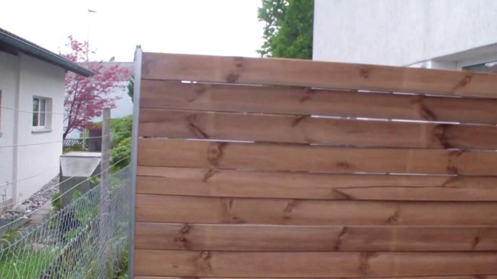 Sichtschutz Selber Bauen  Youtube von Sichtschutz Lärche Selber Bauen Photo