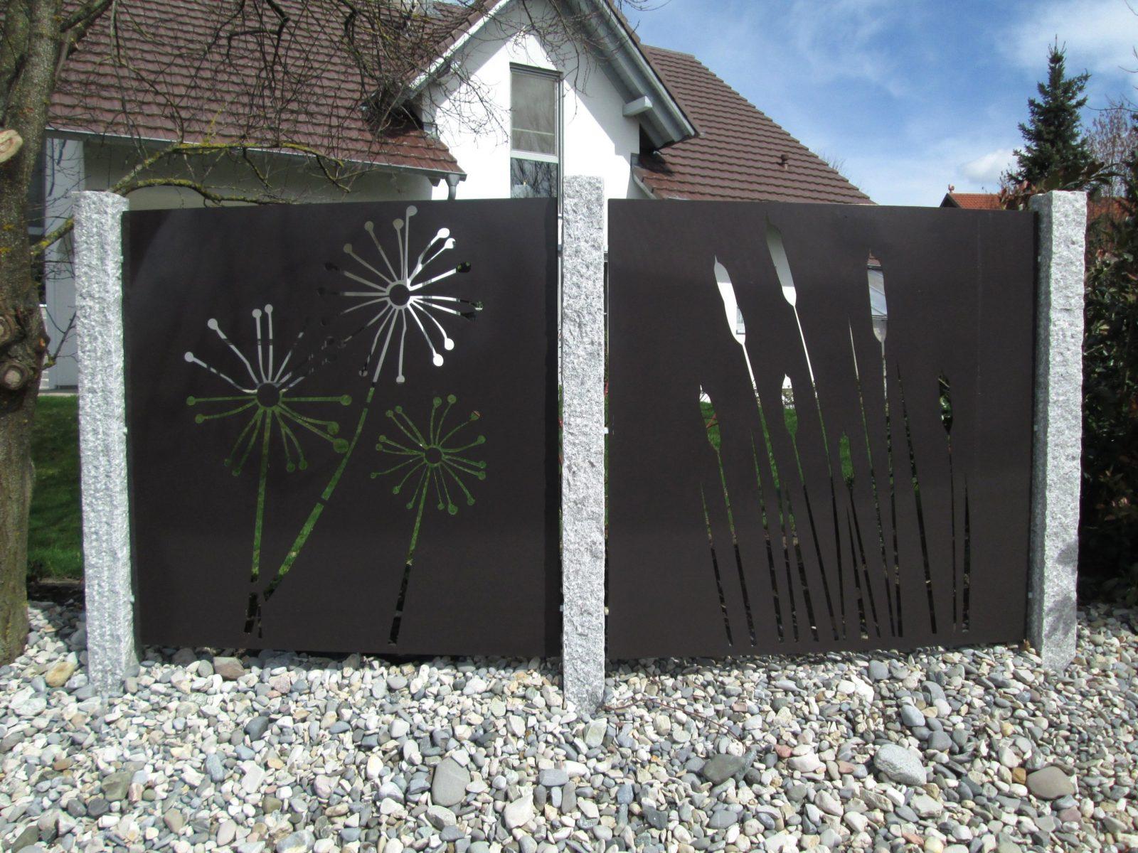 Sichtschutz Terrasse Metall 76 And Sichtschutz Metall Garten On von Sichtschutz Garten Metall Rost Bild