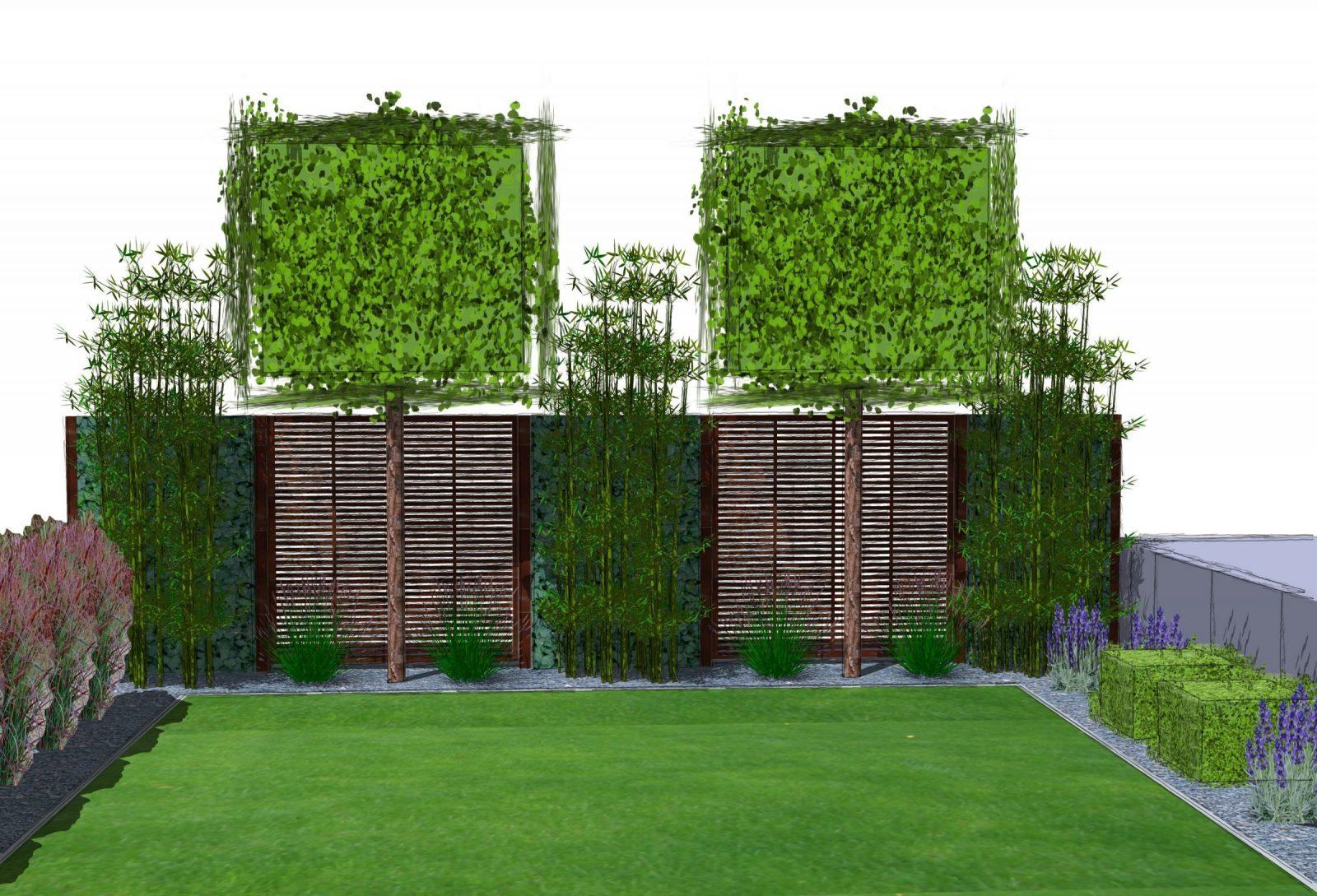 Sichtschutzkombinationen Teil 5  Spalierbäume Hecke Am Laufenden von Sichtschutz Efeu Am Laufenden Meter Photo