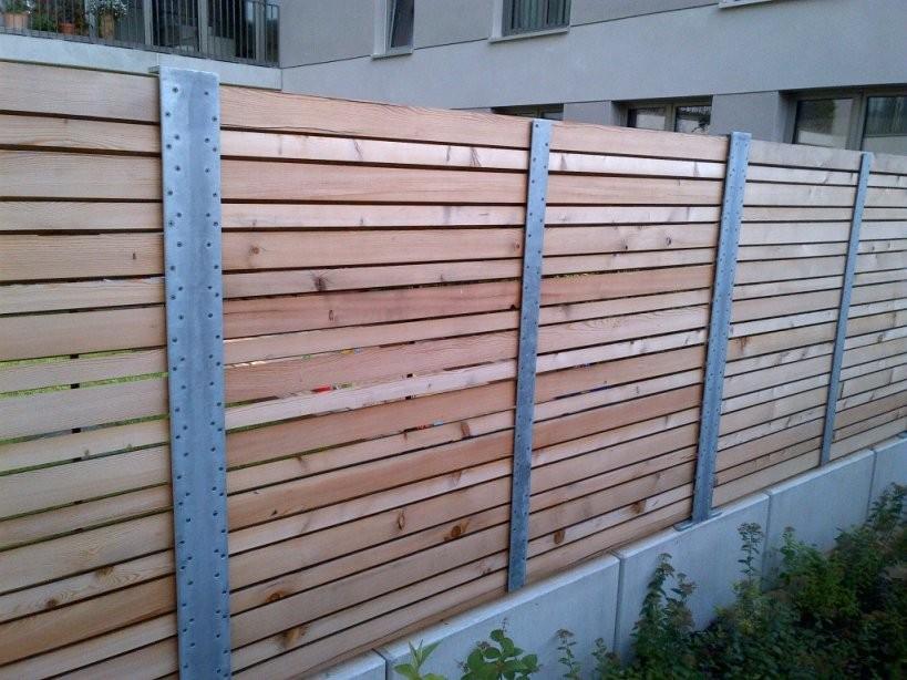 Sichtschutzzaun Bau  Aus Sib Lärche  Holzservice24 von Sichtschutz Lärche Selber Bauen Photo