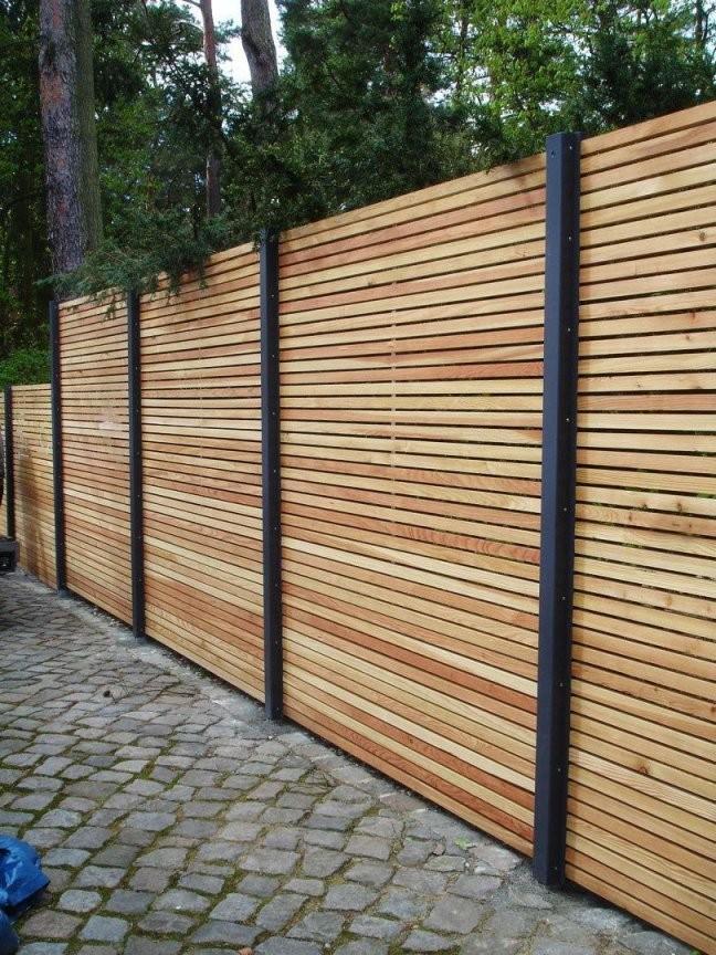 Sichtschutzzaunholzmetallgünstiglärchehöhegrauweißausholz von Sichtschutz Lärche Selber Bauen Bild