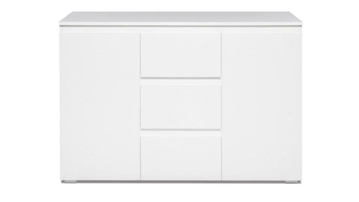 Sideboard Blanc 4 Grifflose Kommode In Weiß 120 Cm Breit von Schrank Weiß 120 Breit Photo