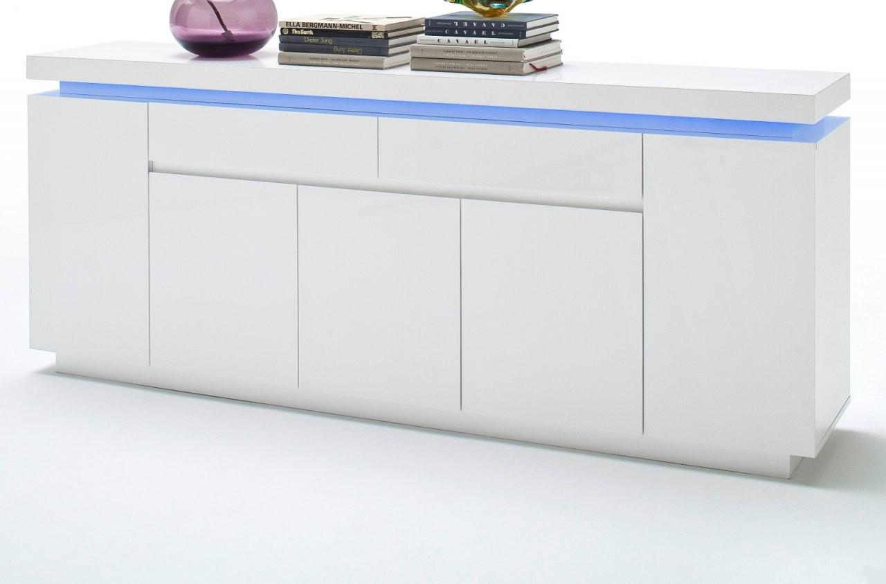 Sideboard Ocean Hochglanz Weiß Lack 200 Cm von Sideboard Weiß Hochglanz 200 Cm Photo