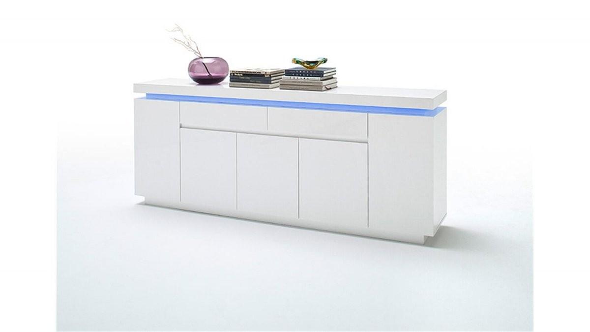Sideboard Ocean Weiß Hochglanz Inkl Rgbbeleuchtung 200 Cm von Sideboard Weiß Hochglanz 200 Cm Bild