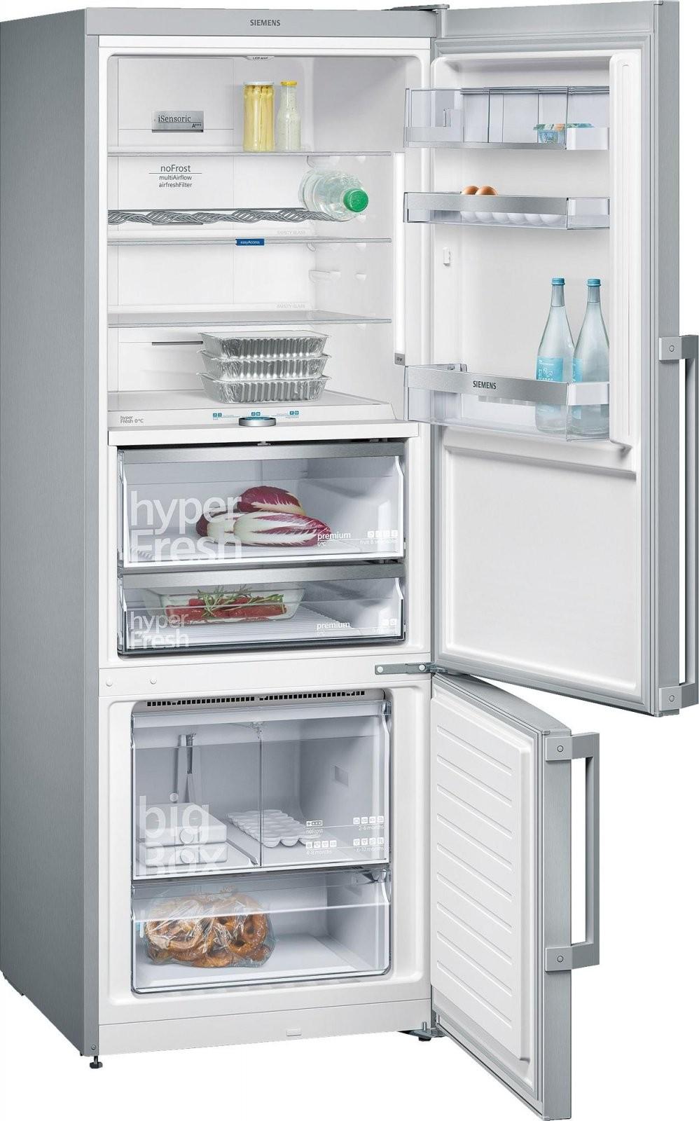 Siemens Kg56Fpi40 A+++ Kühlgefrierkombination Inox von Kühlschrank 100 Cm Breit Bild