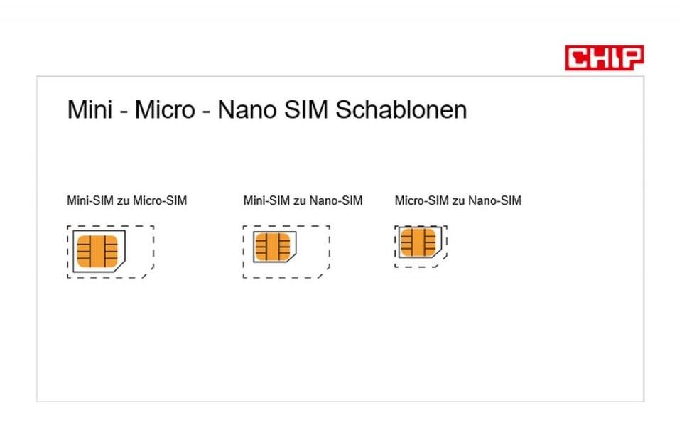Simkarte Zuschneiden Mit Schablone Zur Nano Oder Microsim  Chip von Nano Sim Auf Micro Sim Adapter Selber Bauen Photo