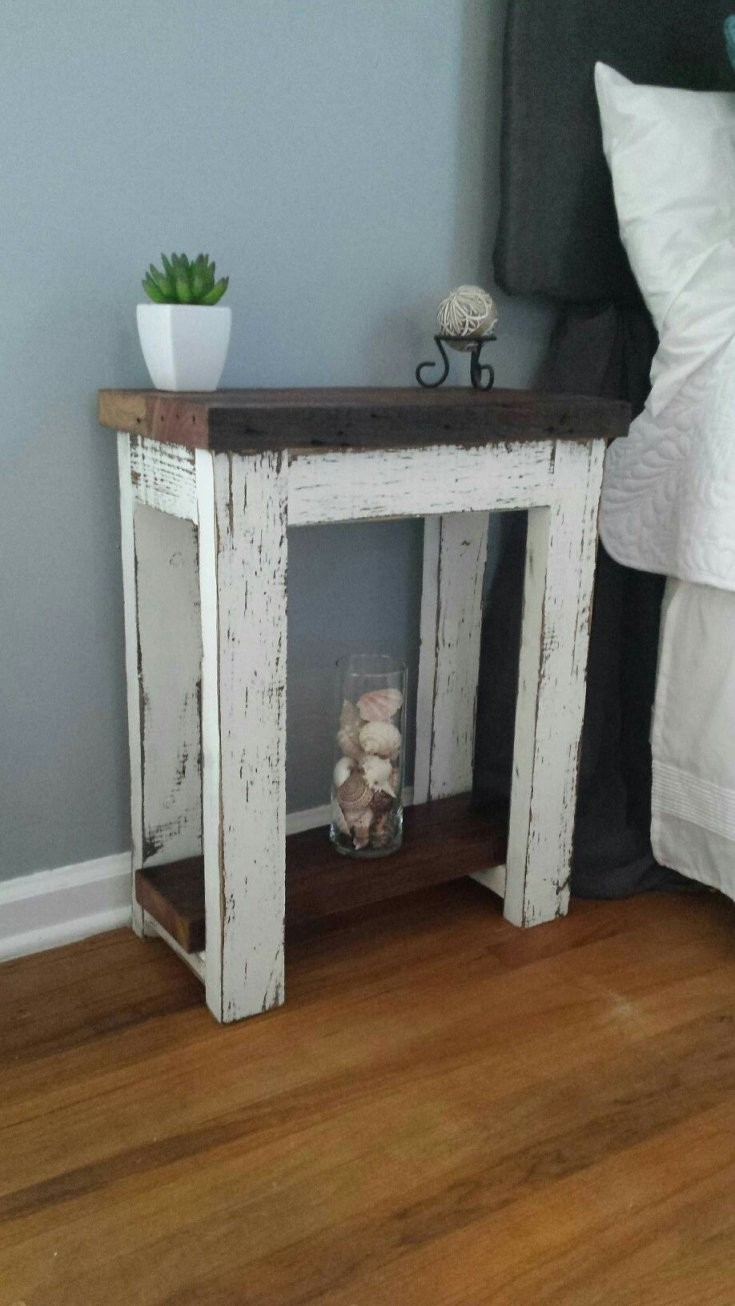 Simply Rustic Barnwood Nightstand  House Updates  Möbel Rustikale von Rustikale Möbel Selber Bauen Photo