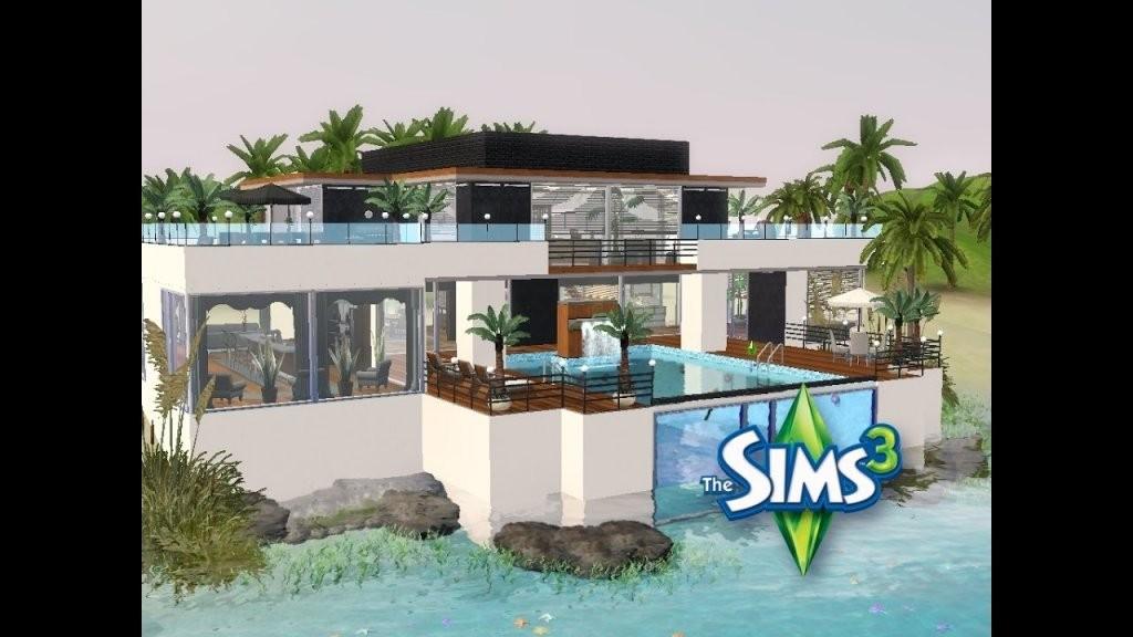Sims 3  Haus Bauen  Let's Build  Modernes Haus Im Taucherwinkel von Sims Häuser Zum Nachbauen Photo