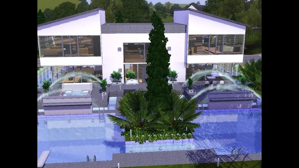 Sims 3  Haus Bauen  Let's Build  Modernes Haus Mit Großem Pool von Sims 3 Haus Bauen Schritt Für Schritt Photo
