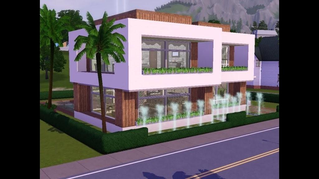 Sims 3  Haus Bauen  Let's Build  Schick Und Modern Auf Kleinem von Sims Häuser Zum Nachbauen Bild