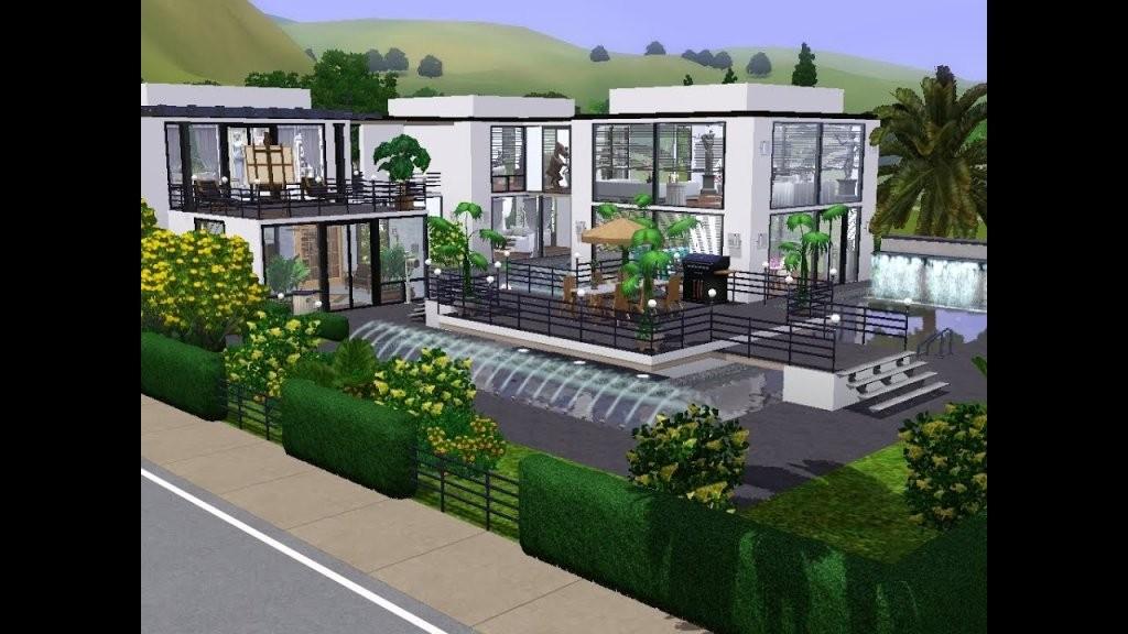 Sims 3  Haus Bauen  Let's Build  Schickes Modernes Haus Für Ein von Sims Häuser Zum Nachbauen Bild