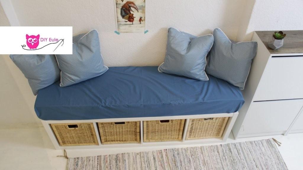 Sitzbank Mit Bezug Und Kissen  Ikea Hack  Diy Eule  Youtube von Eckbank Selber Bauen Ikea Bild
