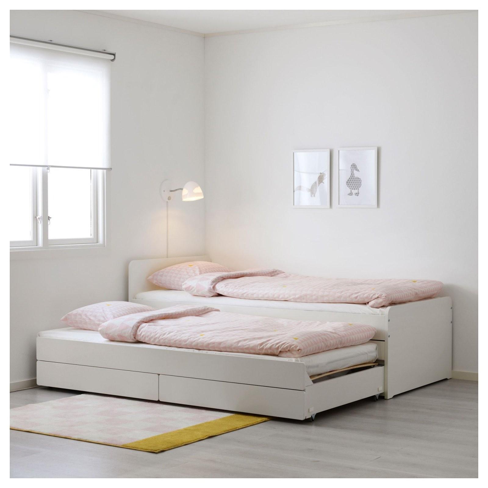 Släkt Unterbett Mit Aufbewahrung Weiß In 2019  Products  Bett von Ikea Einzelbett Mit Unterbett Photo