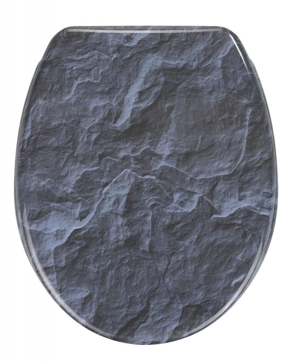 Slate Rock Toilettendeckel Mit Absenkautomatik  Toilettendeckel von Wc Sitz Aufkleber Selber Gestalten Photo