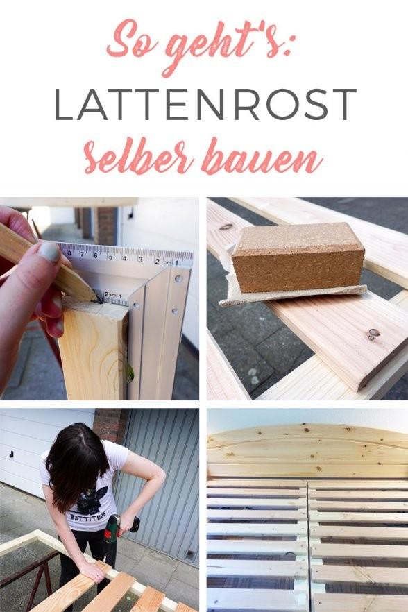 So Kannst Du Dein Diylattenrost Selber Bauen  Vom Landleben von Lattenrost 140X200 Selber Bauen Photo