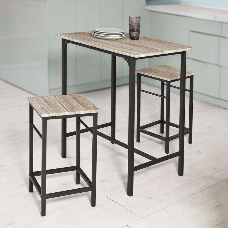 Sobuy® Bartisch Set3Teilig Stehtischbistrotisch M Stühlen von Bistrotisch Mit 2 Stühlen Photo