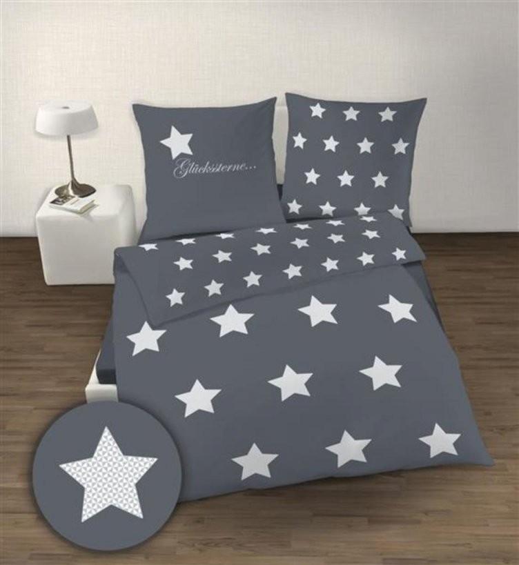 Soma Biber Bettwäsche 2 Teilig Bettbezug 155 X 220 C  Real von Bettwäsche Sterne Grau 155X220 Photo