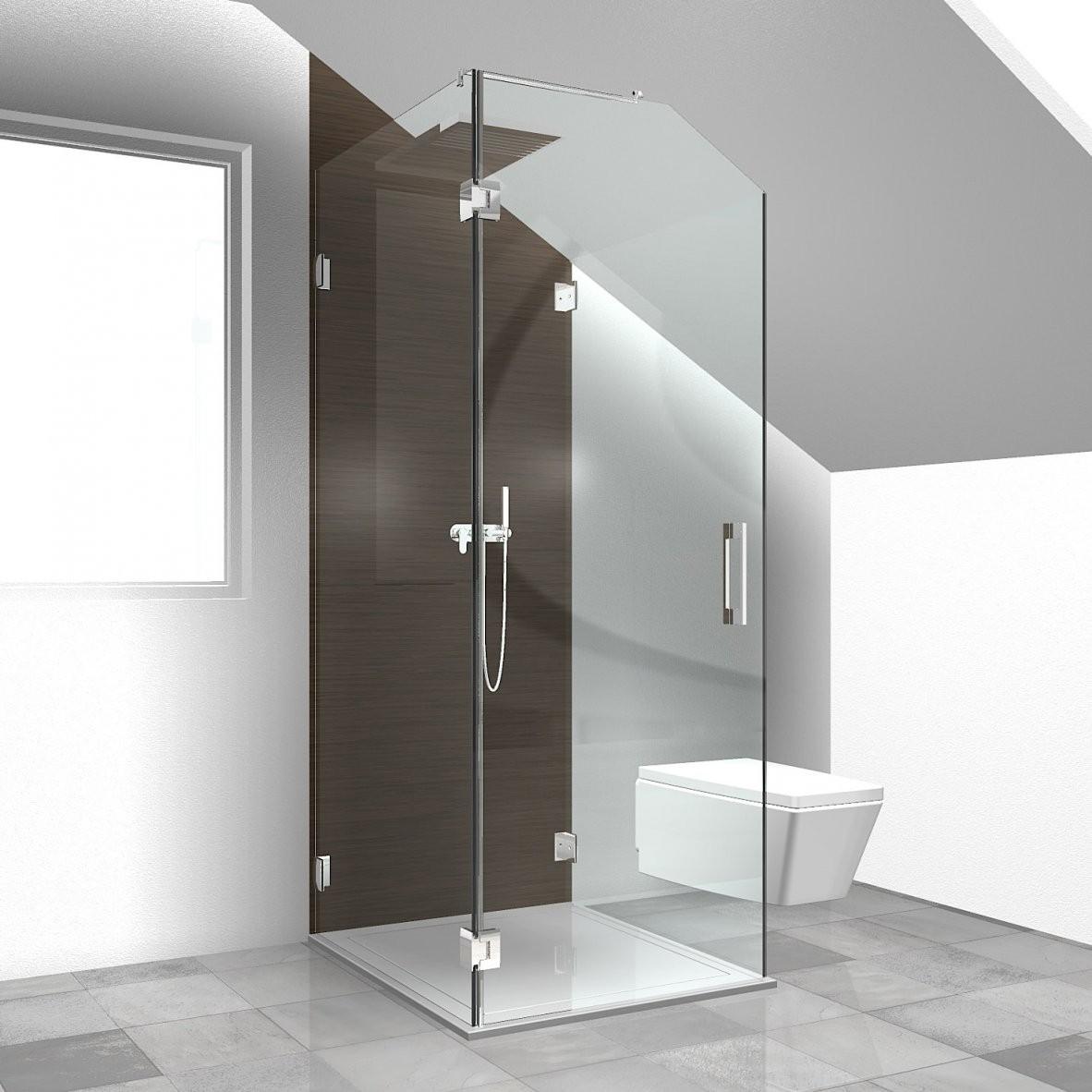 Sonderlösungen Duschabtrennung Dachgeschoss Duschabtrennung von Dusche In Der Dachschräge Bild