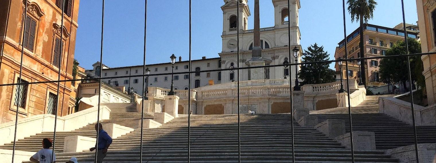 Spanische Treppe In Rom Wieder Eröffnet von Spanische Treppe Rom Gesperrt Bild