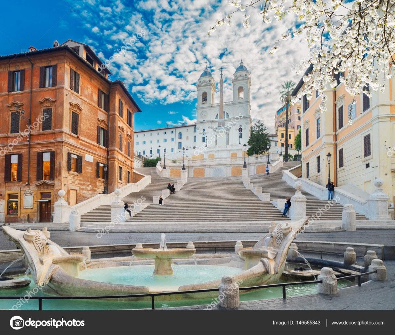 Spanische Treppe Rom Italien — Stockfoto © Neirfys 146585843 von Webcam Rom Spanische Treppe Bild