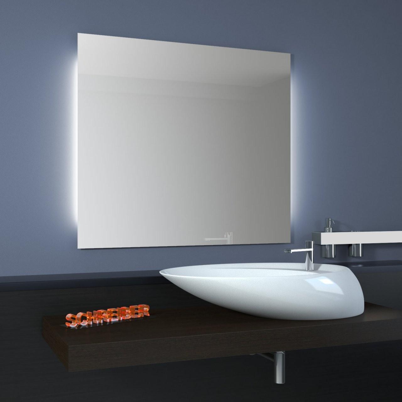 Spiegel Basic Ambiente Side Led  Seitliche Beleuchtung von Led Spiegel Mit Steckdose Bild