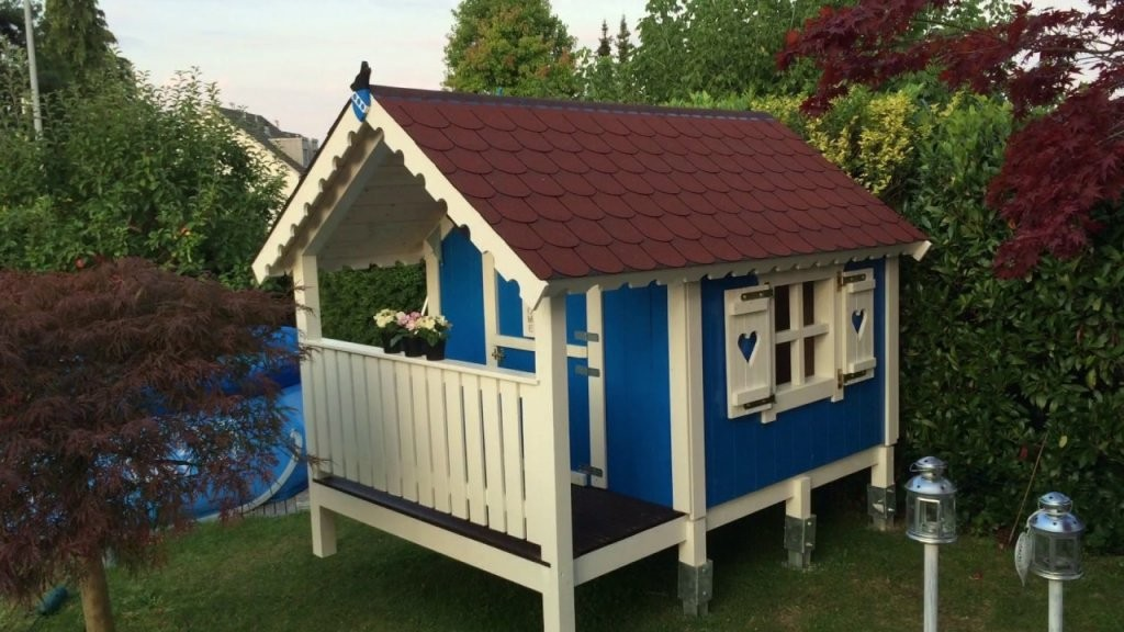Spielhaus Bauanleitung  Spielhaus Selber Bauen  Stelzenhaus Selber von Kinder Holzhaus Selber Bauen Bild