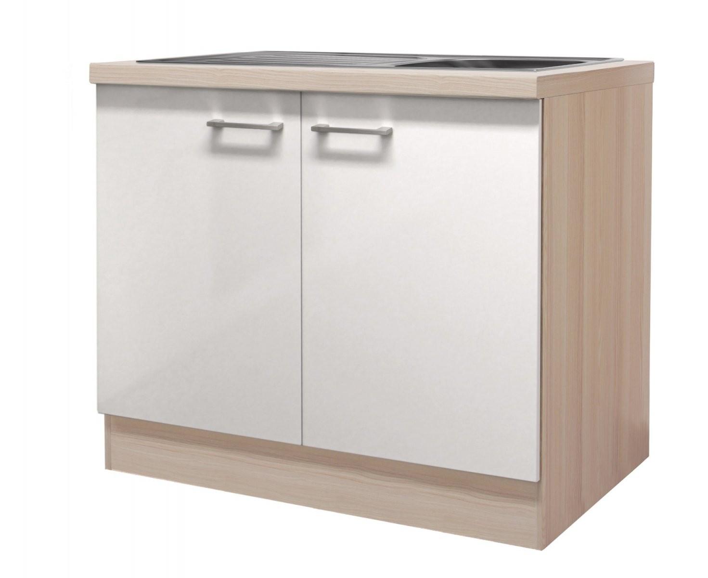 Spülenschrank Florenz Küchenspülschrank Spüle Mit Becken 2 Türen von Küchen Unterschrank Mit Spüle Bild