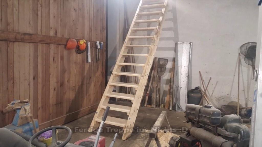 Stabile Holztreppe Selbst Bauen  Youtube von Holztreppe Selber Bauen Anleitung Bild