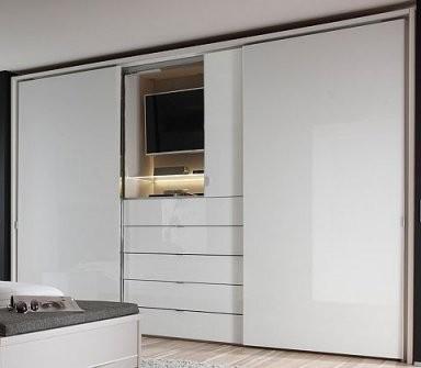 Staud Media Schwebetürenschrank Kleiderschrank Mit Tv Aussparung von Schlafzimmerschrank Mit Tv Fach Bild