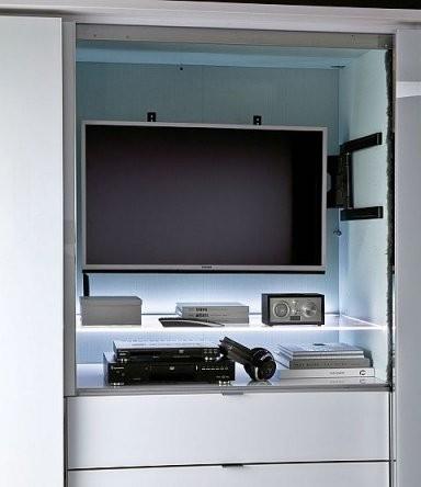 Staud Media Schwebetürenschrank Kleiderschrank Mit Tv Fach Breite von Schlafzimmerschrank Mit Tv Fach Bild