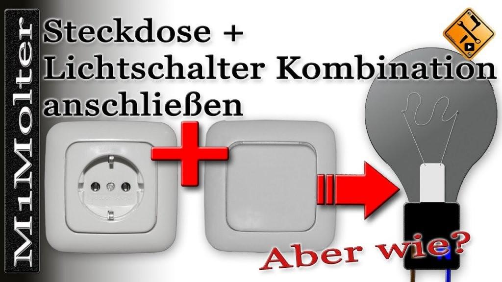 Steckdose + Lichtschalter Kombination Anschließen Von M1Molter  Youtube von Steckdose An Lichtschalter Anklemmen Photo