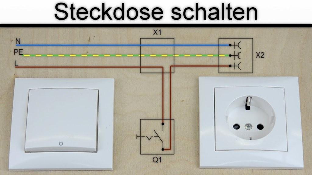 Steckdose Schalten  Steckdose An Schalter Anschließen  (Ohne von Steckdose An Lichtschalter Anklemmen Bild