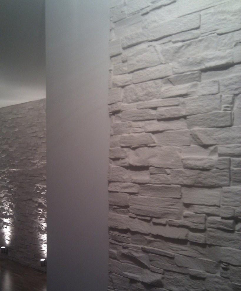 Steinwand Design Holzwand Design Steinstyler Steine An Der Wand von Wände Mit Steinen Gestalten Photo