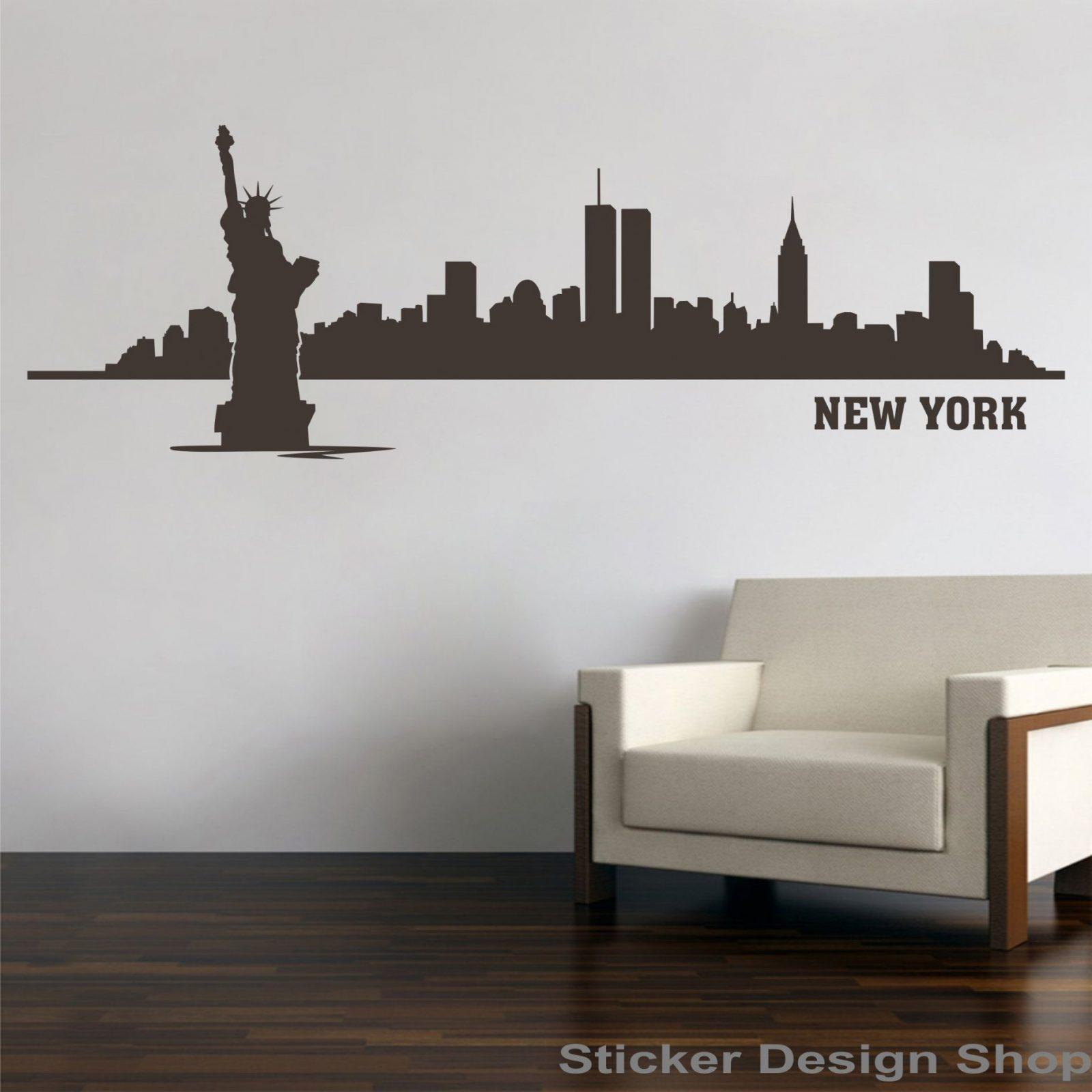 Sticker Design Shop  New York City Skyline Freiheitsstatue von Skyline New York Wandtattoo Photo