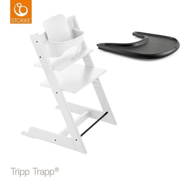Stokke® Tripp Trapp® Hochstuhl Inkl Baby Set In Buche Weiß + Gratis von Stokke Tripp Trapp Buche Photo