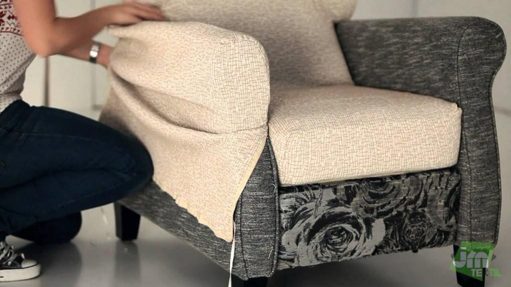 Stretchhusse Für Relaxsessel  Youtube von Sofa Hussen Selber Nähen Photo