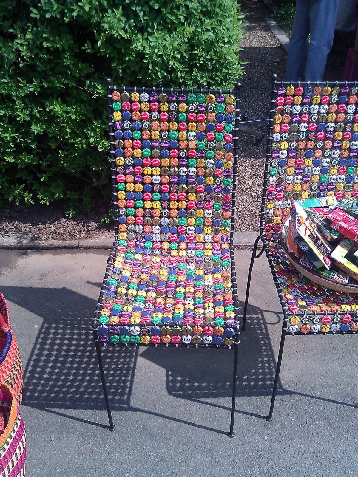 Stuhl Aus Kronkorken  Bottle Caps  Kronkorken Korken Und Basteln von Recycling Ideen Selber Machen Photo