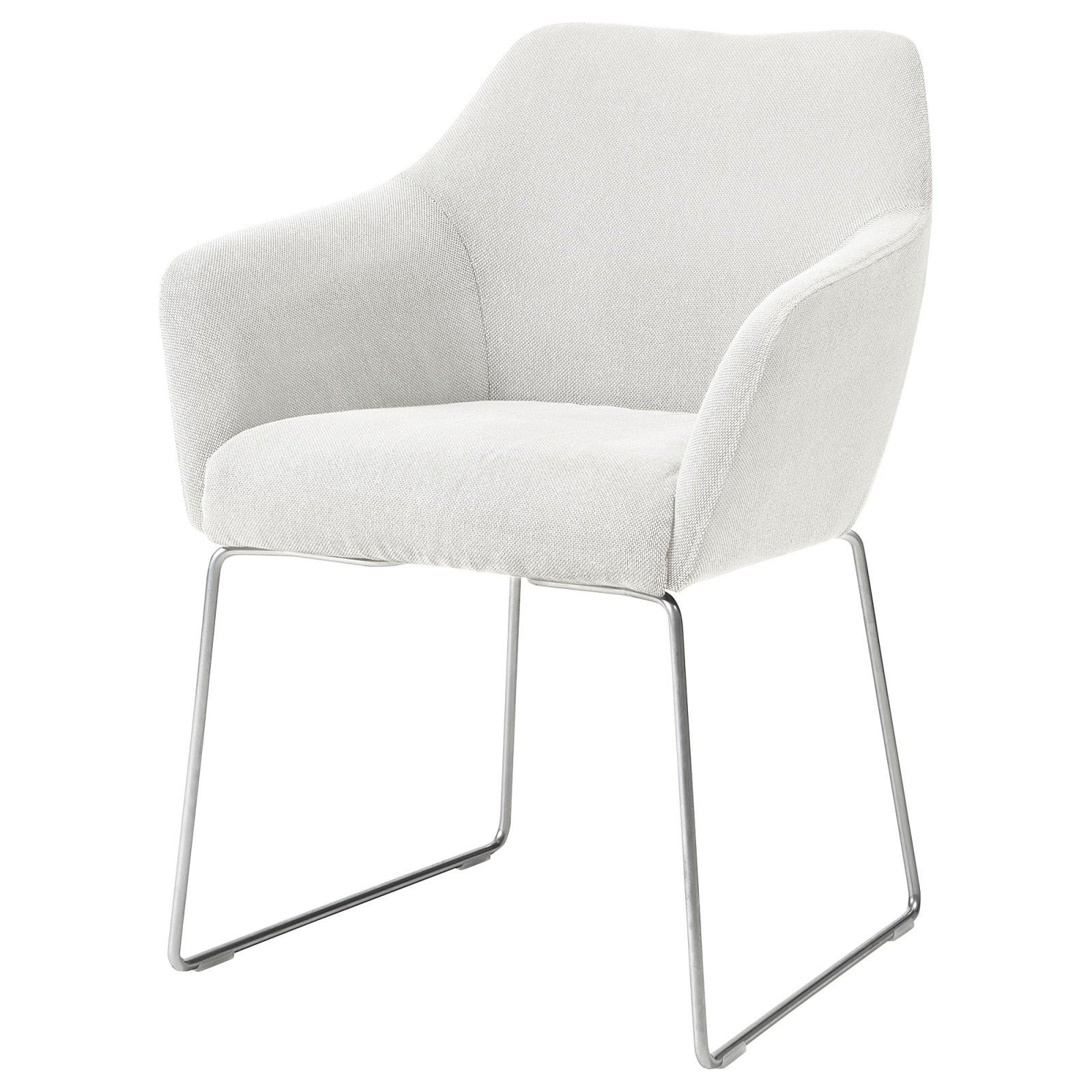 Stuhl Tossberg Metall Silberfarben Finnsta Weiß In 2019  Stühle von Ikea Stühle Mit Armlehne Bild
