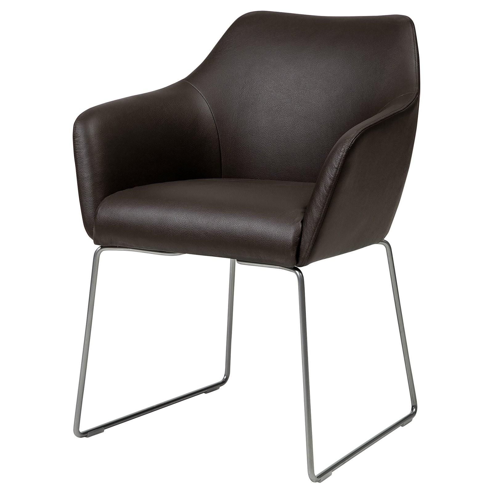 Stuhl Tossberg Metall Silberfarben Grann Dunkelbraun von Ikea Stühle Mit Armlehne Photo