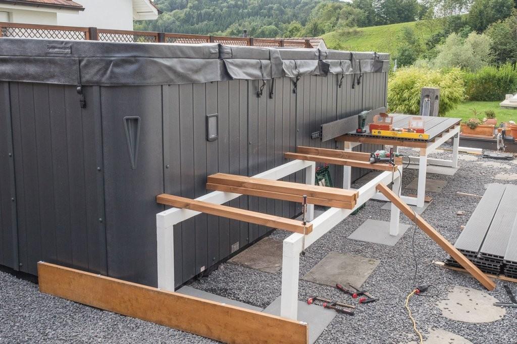 Swimspa – Pool Deck Selber Bauen – Diy  Technikfreak von Pool Deck Selber Bauen Photo
